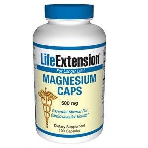 Capsules 500mg de magnésium Life Extension,