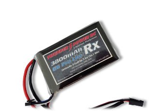 Thunder Power RC 3800mAh 2-Cell/2S 7.4V G6 Pro Lite Rx LiPo Receiver Battery