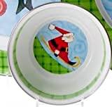 Enamelware Happy Christmas Santa Dip Serving Snack Round Bowls Set of 2