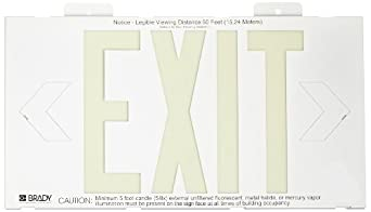Brady White Color High Performance Photoluminescent Exit Sign