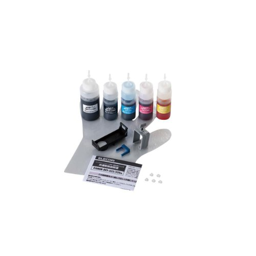 ELECOM キヤノンインクジェットプリンタ専用詰め替えインク BCI-325 326対応 5色セット 5回 THC-MG5230SET