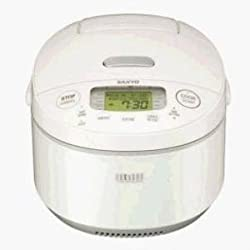 Sanyo ECJ-JG10W 5-1/2-Cup Rice Cooker with Induction Heating and Variable Pressure Control