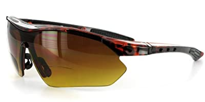 Daredevil Fashion Bifocal Sunglasses with Wrap-Around Sports Design and Anti-Glare Coating for Youthful and Active Men