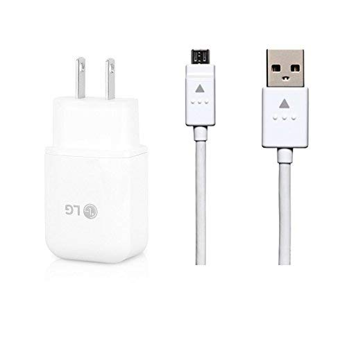 Genuine LG Quick Wall Charger + Micro USB Cable for LG G3 / G4 / Stylo 3 / V10 / K10 / Tribute / X Style - 100% Original - Bulk Packaging