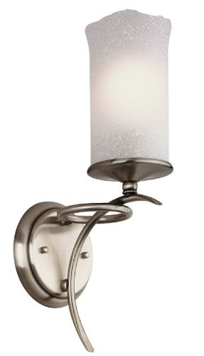 Candle Light Wall Sconce in Antique Silver