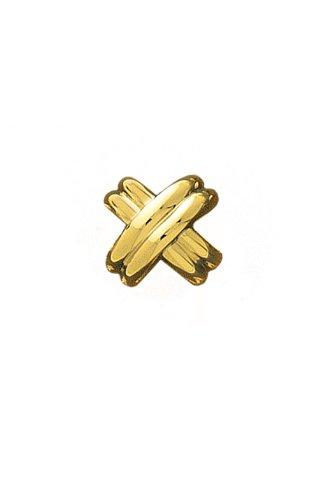14K Yellow Gold Classic X Tie Tac-89902