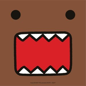 Domo-Kun Face Die Cut Vinyl Sticker DS577