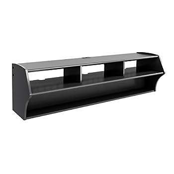 Metro Shop Broadway Black Altus Plus 58-inch Floating TV Stand-Broadway Black Altus Plus 58 Floating TV Stand by Prepac