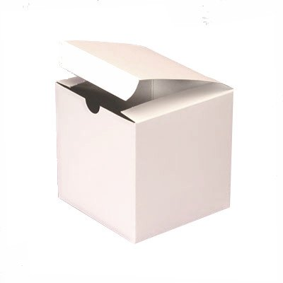 White Wedding Favor Candy Gift Boxes 4x4x4