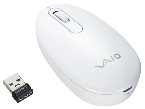 Sony Vaio Mouse VGP-WMS10 W Oyster-white | 2.4GHz Wireless Laser Mouse (Japanese Introduce)