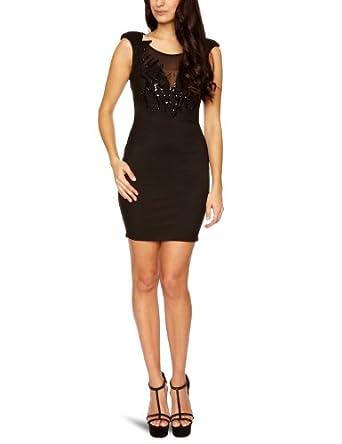 Lipsy JD01907 Sleeveless Women's Dress Black Size 8