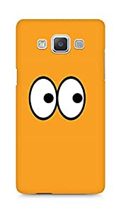 Amez designer printed 3d premium high quality back case cover for Samsung Galaxy A5 (Caratoon Eyes)