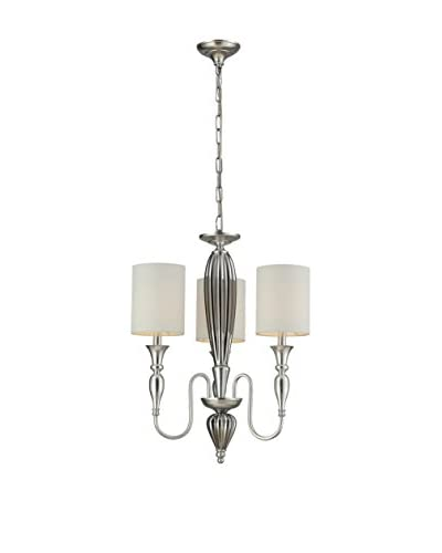 Artistic Lighting Martique 3-Light Chandelier, Silver Leaf