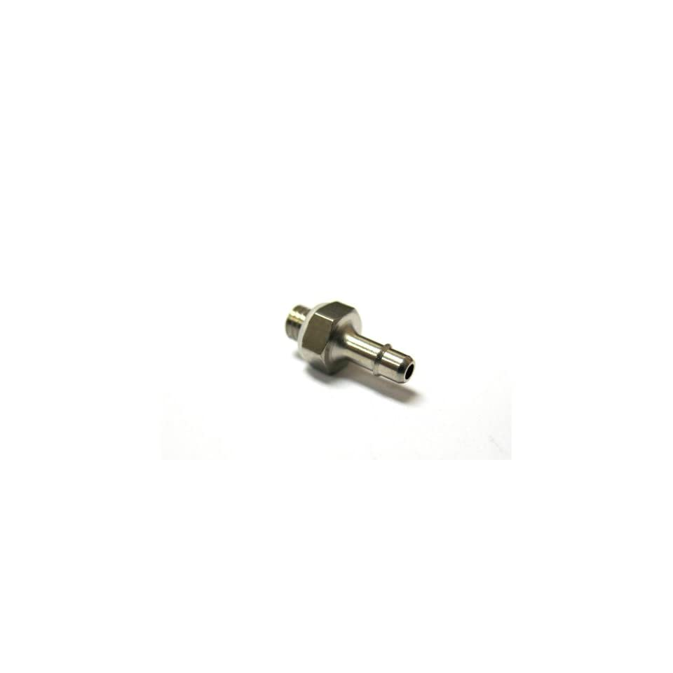 MettleAir 125NP 1M3 SB 1/16 ID M3 Male Single Barb Hose/Tubing Fitting Connector, Nickel Plated