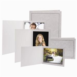 4x6 Traditional Grey Marble Photo Folders - 100 Pack
