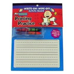 Peanuts Snoopy Printing Practice Activity Board - Learn to Print