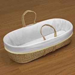 Neat Trim Moses Basket - Color: Ecru back-823072