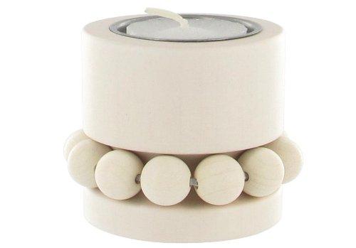 aarikka-prinsessa-bougie-chauffe-plat-en-bois-5-cm-dhauteur-blanc