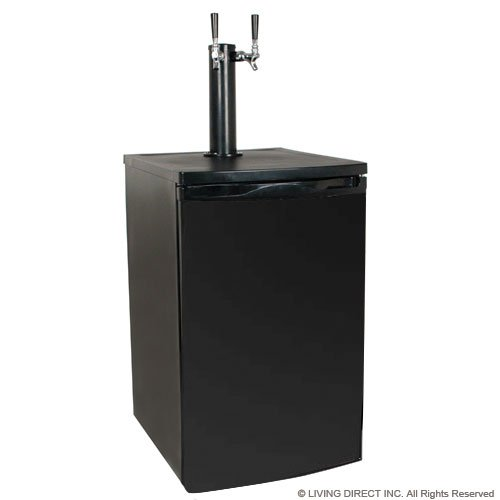 Read About EdgeStar Full Size Dual Tap Kegerator & Draft Beer Dispenser - Black