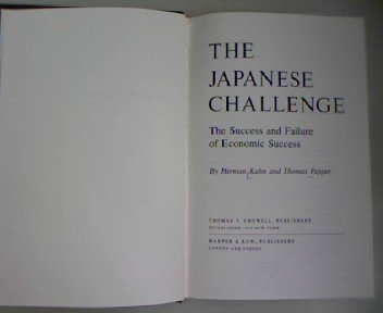 Japanese Challenge: The Success and Failure of Economic Success PDF