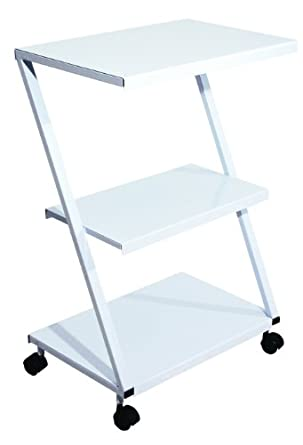 "3B Scientific W15112 Carbon Steel Z-Tubular Multi-purpose Steel Table Cart, 23.5"" Length x 16"" Width x 35.5"" Height"
