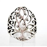 Large Celtic Tree of Life Ring in Sterling Silver, size 6, #8561