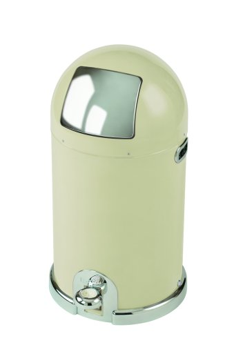 Typhoon Capsule Gloss Cream Steel Body 33ltr Kitchen Bin