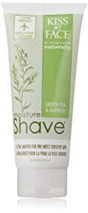 Kiss My Face Moisture Shave, Green Tea and Bamboo, 3.4 Ounce
