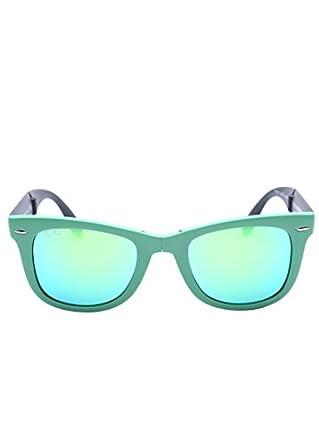 Ray Ban RB4105 Fold Wayfarer Sunglasses-6021/19 Green (Green Mirror Lens)-50mm