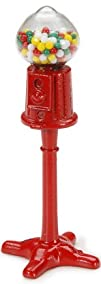 Darice Timeless MinisTM miniatures Gumball Machine 1.75 inches. Metal Red Gumball Holder with Bright…