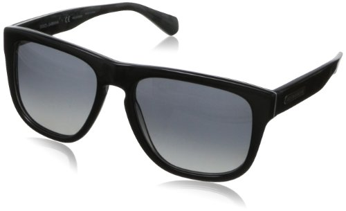 D&G Dolce & Gabbana Men's Mimetic Square Sunglasses,Top Black & Mimetic,56 mm