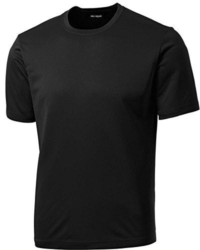 Joe's USA Men's Athletic All Sport Training T-Shirt ,Black ,XX-Large