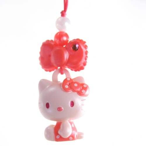 Hello Kitty Charm Mascot    Red Bow  Japanese Import