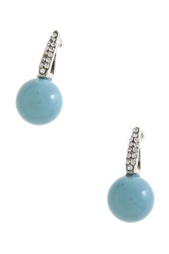 Karmas Canvas Crystal Drop Bead Earrings (Turquoise)