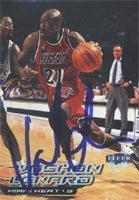 Voshon Leonard Miami Heat 1999 Fleer Ultra Autographed Hand Signed Trading Card. by Hall+of+Fame+Memorabilia