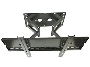 Mount World 1019 Heavy Duty Articulating Dual Arm Wall Mount for Insignia 32, 36, 37, 40, 42, 46, 50, 52 inch LCD Plasma