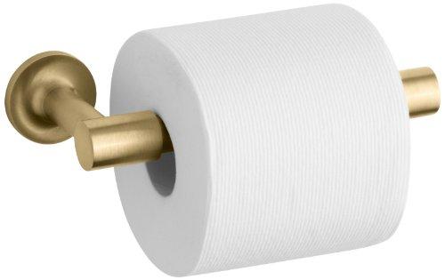 KOHLER K-14377-BGD Purist Pivoting Toilet Tissue Holder, Vibrant Modern Brushed Gold