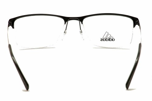 adidas Adidas Eyeglasses AF14 50 6055 Black/White Stripe Semi Rim Optical Frame 54mm