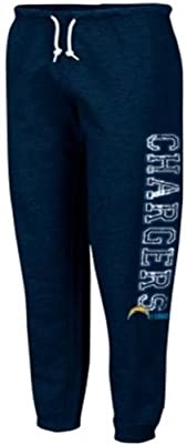 San Diego Chargers NFL Apparel Women's Fleece Sweatpants Navy Plus Sizes