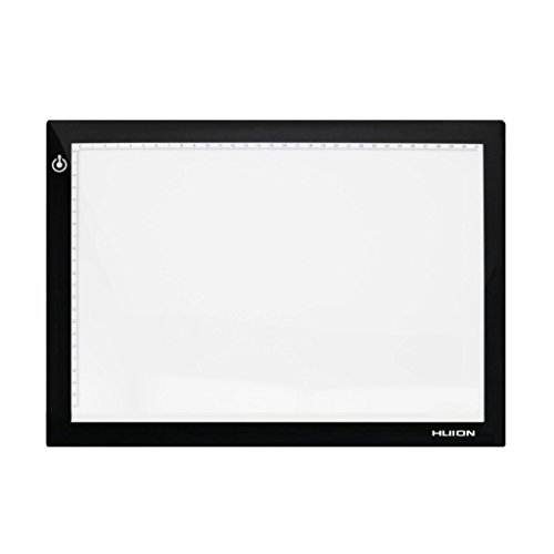 Huion 17.72 Inches Only 5mm Ultra-thin USB Power Tattoo Light Box LED ADJUSTABLE Illumination Tracer 50000 Hours Lifetime LightPad Light Desk with Tracing Paper (Led Light Panel compare prices)