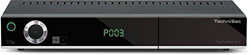 TechniStar S1+ - HD Satelliten Receiver (HDTV, DVB-S2, HDMI, SCART, PVR-Ready, USB 2.0, UPnP, Ethernet, HD+ Karte) schwarz