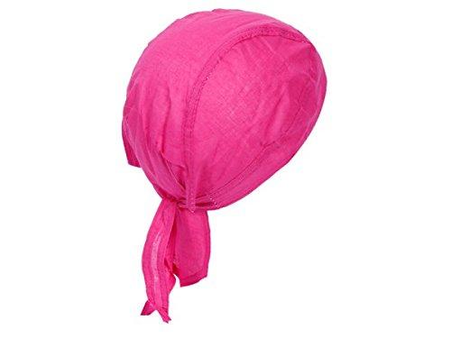 Bandana preformato con laccetti, rocker biker motociclista motorcycle pirata cap cappellino di colori diversi, ZA-137 rosa