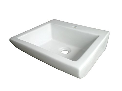 Belmonte Wall Hung Wash Basin Big Sparrow 16 Inch x 15 Inch - White