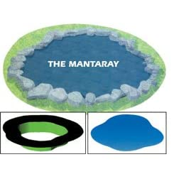 Preformed Flexible 30-mil PVC Ornamental Pond Liner - Mantary - 311 Gallons
