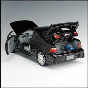 The Fast And The Furious 1995 Honda Civic Diecast Race Car 1 18