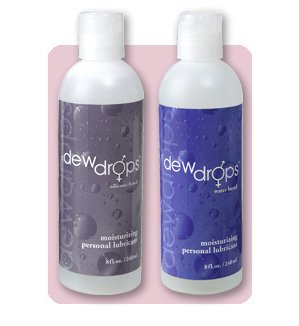 (2 PK) Dew Drops 8 oz Silicone Plus 8 oz Water Based Personal Lubricant - Lubricants - Sex Lube - Sexual - Sensual - Enhancements - Enhancers - Erotica - Intimacy - Vaginal Dryness