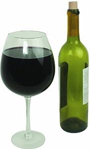 Oversized Extra Large Giant Wine Glass - 750 ml - Holds a full bottle of wine!