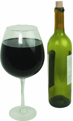 Oversized Extra Large Giant Wine Glass - 750 ml - Holds a full bottle of wine!