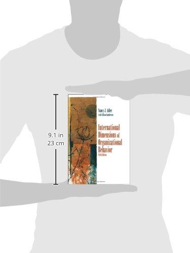 international dimensions of organizational behavior and International dimensions of organizational behavior pdf 1 international dimensions of organizational behavior nancy j adler, allison gundersen.