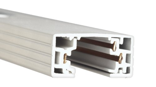 Wac Lighting Ht4-Wt H Series 4-Feet Track With 2 Endcaps, White